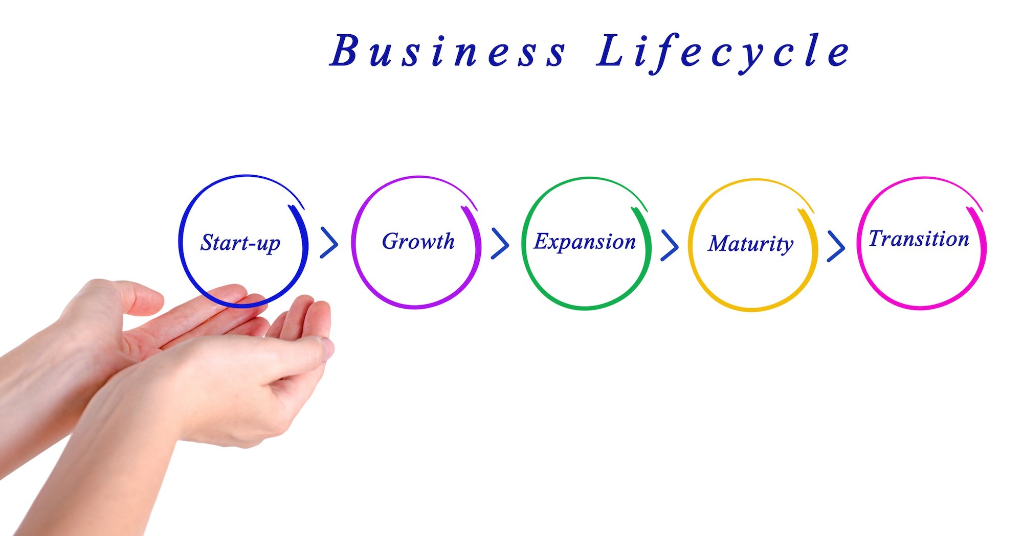 business life cycle During the growth of a small business, a company will go through the stages of the business life cycle and encounter different challenges that require different financing sources for example, the business will require a different strategy when it comes to market penetration, business development, and retaining market share.